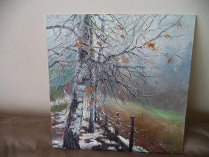 Umjetnicka slika ulje na platnu zima