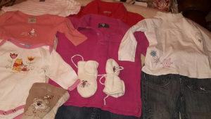 10.komada odječe za djevojčicu veličina od 86 do 116.