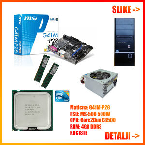 Core 2 Duo 3.16GHz RAM DDR3 4GB Maticna MSI, PC Racunar