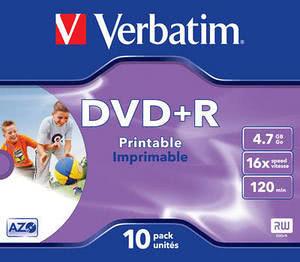 DVD R Verbatim 10PK PR J (43508)