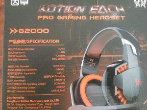 Gaming PRO slušalice, LED plave, mikrofon