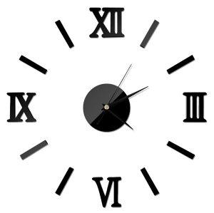 Zidni 3D sat CRNI