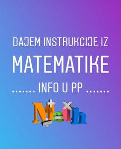 Instrukcije iz matematike (časovi) Tuzla
