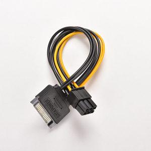 NOV SATA 15 Pin muški  u 6 Pin PCI-E konektor 20cm