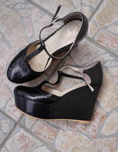 Polovne kožne cipele na platformu