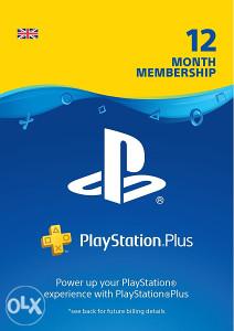 PlayStation Plus PSN 365 dana PS Plus UK Godina