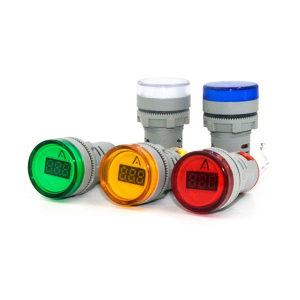 AC Ampermetar u vidu signalne lampe 0-100A