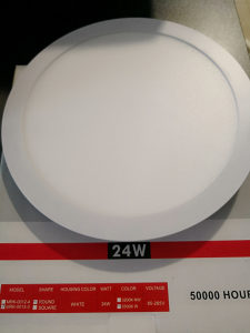 LED Panel ugradbeni okrugli - 24W