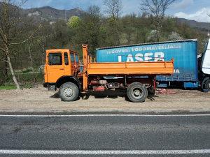 Kamion Man 4x4 kiper kran