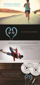 PISEN wireless sport slušalice R500 plave