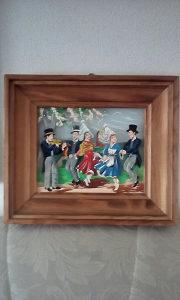 Umjetnicka slika staklo trostepena