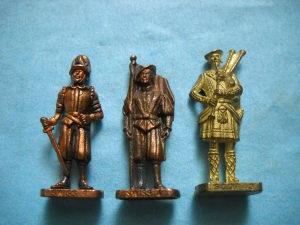 Metalne figurice - lot 3 komada