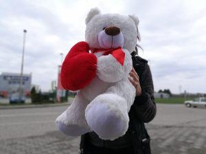 Plisani medo/medvjed sa srcem 60cm l NOVO