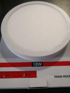 LED Panel nadgradni okrugli - 18W
