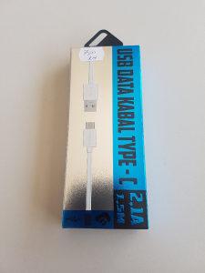 USB DATA KABL/KABLO ZA PUNJENJE TIP C 2.1A