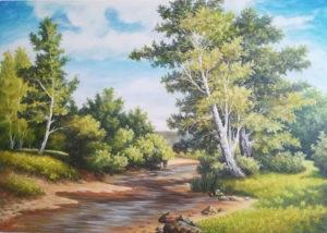Umjetnička slika - Miljacka