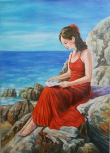 Umjetnička slika - Na obali