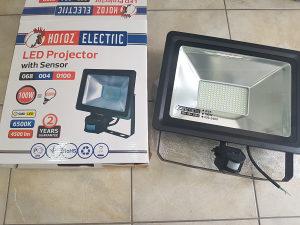 LED REFLEKTOR 100W 800W Senzor Senzorom SLIM IP65 220V