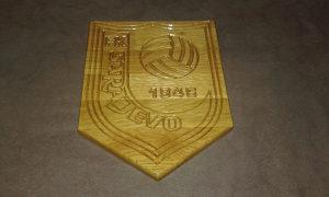 Grb FK Sarajevo - drveni