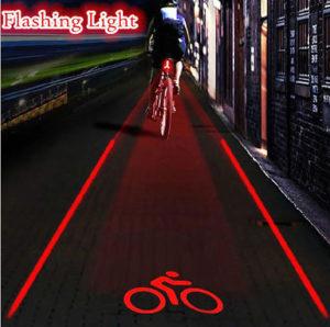 Led lampa  za biciklo 5 LED i 2 LASERA
