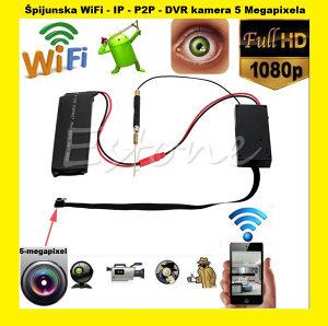 Spijunska wifi IP P2P DVR kamera HD 5mp spy camera