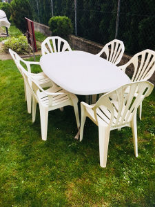 Stol i  6 stolica-vrtni namjestaj 01