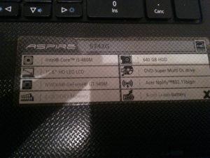 Laptop Acer aspire 5742g za dijlove