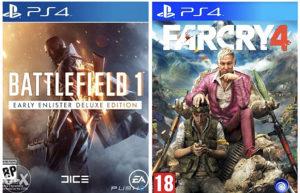 Battlefield 1 Farcry 4 Ps4