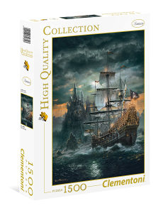 PUZZLE CLEMENTONI HQ 1500 THE PIRATE SHIP