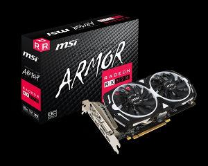 MSI Radeon RX 570 DirectX 12 Armor 8g OC 8gb - novo