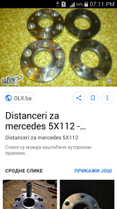 Distanceri za Mercedesa 5X112