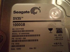 HDD 1000 GB ---  320 GB ---- 160  GB