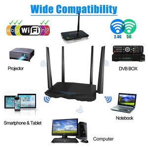 Wifi dual band ruter repeater tenda AC6 2.4 i 5ghz