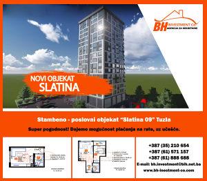 Novogradnja! Dvosoban stan 46,08 m2 Slatina,Tuzla