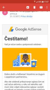 Google Adsense račun bez weba