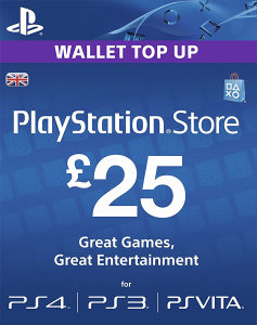 25£ GBP PSN KARTICA NETWORK CARD