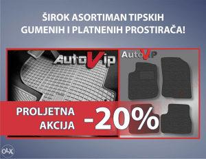 Prostirači/Patosnice Platneni tipski  AKCIJA -20%