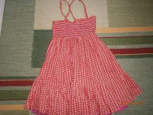 Krasna haljinica,marke C&A.Broj 140.Kao nova!