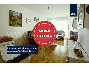 NOVA CIJENA - Renoviran jednoiposoban stan, Banja Luka