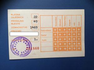 POTROŠAČKA KARTICA.......SARAJEVO