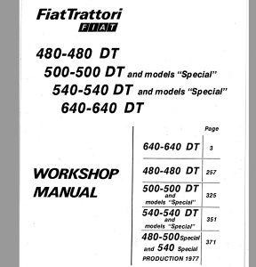 Fiat 480-500-540-640 Radionički priručnik