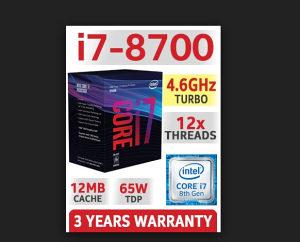 CPU LGA1151 v2 Intel i7 8700 Coffee Lake 12x3.2-4.6GHz