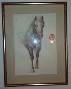 Mersad Berber - stara litografija sa pečatom autora