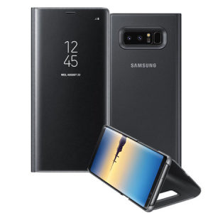 Samsung Galaxy Note 8 Clear View Standing Cover Black