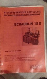 Tehničko upustvo Schaublin 122 SA