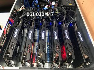 Mining majning rig 6x 6 X RX570 8GB amd Eth rx 580 570