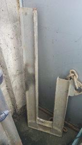 L profil za spustanje betonskih cijevi