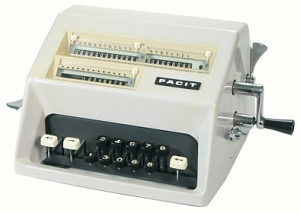 1964 Facit mehanički kalkulator digitron antikvitet