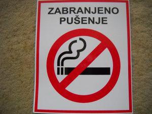 Naljepnica Zabranjeno pušenje
