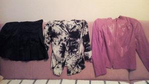 Suknja majica i jakna zenska